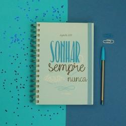 Agenda 2019 Semanal Sonhar Sempre Azul  Kit Oferta