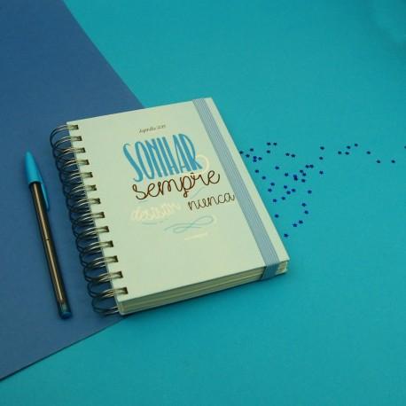 Agenda Pequena Azul Sonhar sempre
