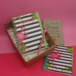 Kit de agenda Flamingo