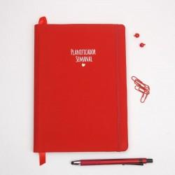 Planificador semanal Vermelho