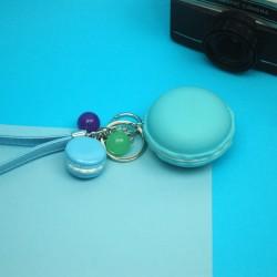 Porta chaves Macaron azul
