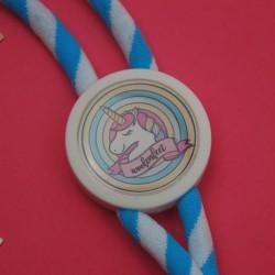 Porta Chaves Unicornio Azul