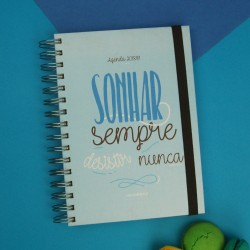 "Agenda Escolar 2018/19 ""Sonhar Sempre desistir Nunca"" Azul"