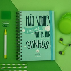 Agenda 2019 Semanal Vive os teus Sonhos Verde Kit Oferta