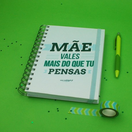 """Livro A5 Espiral """"Vales Mais """""""