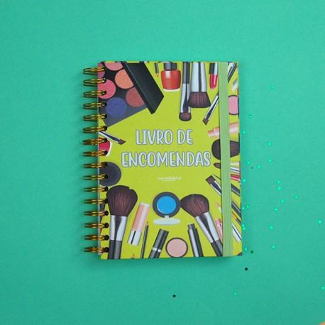 Caderno de Encomendas  Maquilhagem verde A5