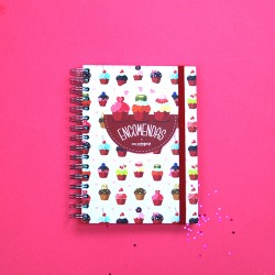 Caderno de Encomendas Corações