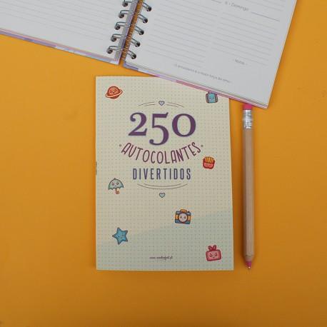 Caderno de 250 AUTOCOLANTES