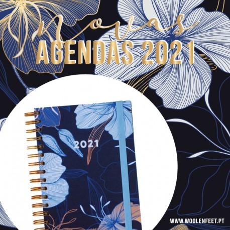 """Agenda Diária A5 """"FRANÇA"""" - KIT OFERTA"""