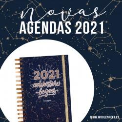 """Agenda Diária A5 """"CONSTELAÇÃO"""" - KIT OFERTA"""