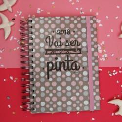 """Agenda A5 Espiral Semanal """"Bolinhas"""" com Kit de Oferta"""