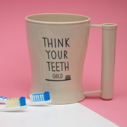 Copo de Escova de Dentes Beje