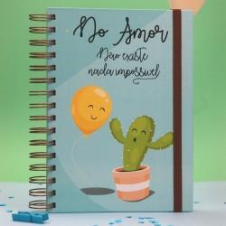 """Livro espiral """"No amor não existe Imp."""""""