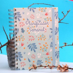 "Planificador A5 ""Primavera Azul"""