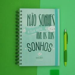 """Agenda Escolar 2018/19 """"Vive os teus Sonhos"""" Verde"""