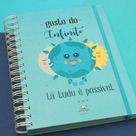 """Livro A5 """"Gosto do infinito"""""""