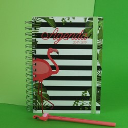 Agenda Flamingo Pequena KIT OFERTA